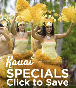 Special Deals for Kauai Resort Vacations in Hawaii from Pahio and Extra Holidays